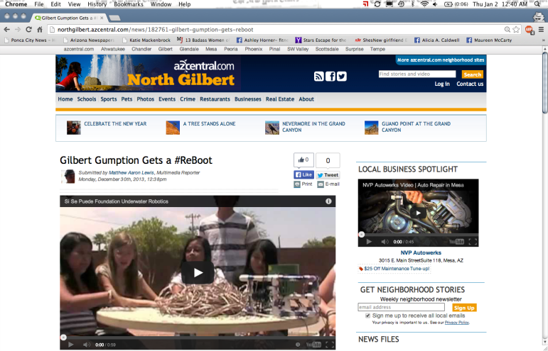 From the North Gilbert Neighborhood blogs section of The Arizona Republic's website (AZCentral.com).